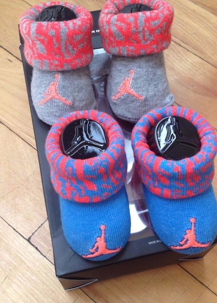 14bbf3bd15e JORDAN 2 PACK BOOTIES BOYS  INFANT SOCKS NWT 0 6 MONTHS Crib Socks  Jordan   Booties