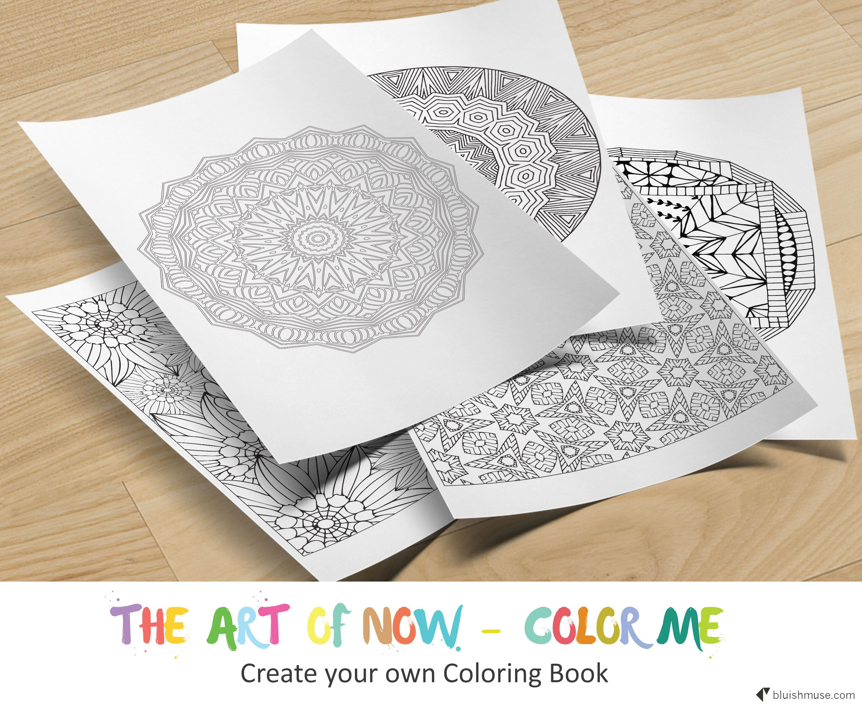 Create your own 20 page Coloring Book | Bluishmuse | Adult coloring ...