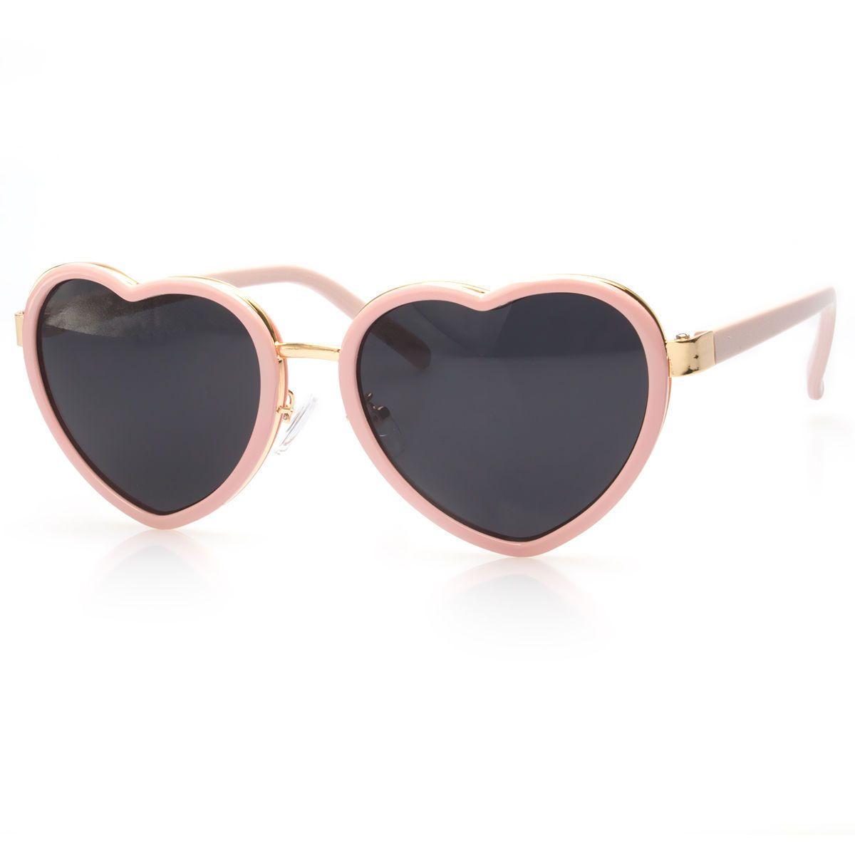 2c2aaa00fe Vintage Retro Fashion Lolita Heart Shaped Aviator Metal Frame Women  Sunglasses K