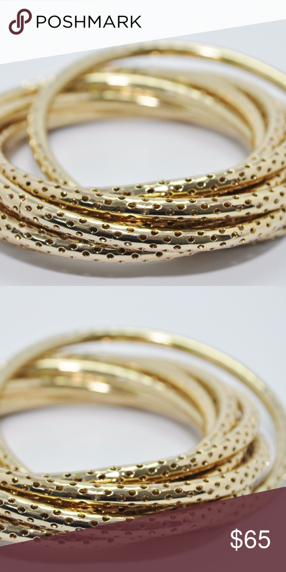 Jules Smith Yellow Gold Twisted Bracelet Set