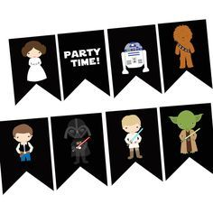 graphic regarding Printable Starwars Pictures known as no cost printable STARWARS occasion flag banner templates - Google