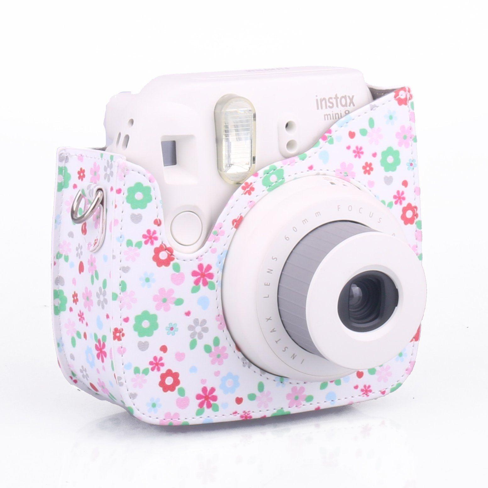 Fujifilm instax mini 8 housse cam ra fleurs caiul pour for Housse instax mini