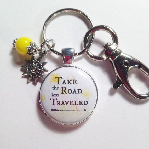 QUOTE CHARM PENDANT Take the Road less by AnnmarieJewelryTree