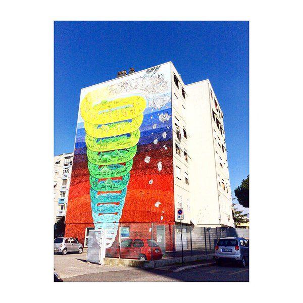 Il Murale di Blu  a Casal De Pazzi Ph. @CannavicciSte
