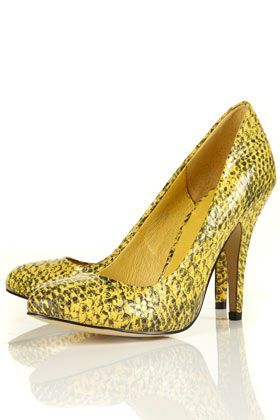 glam snake print shoes