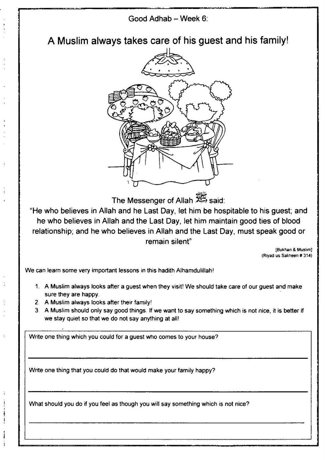 Diary Of A Muslim Homeschool Good Adhab Week 6