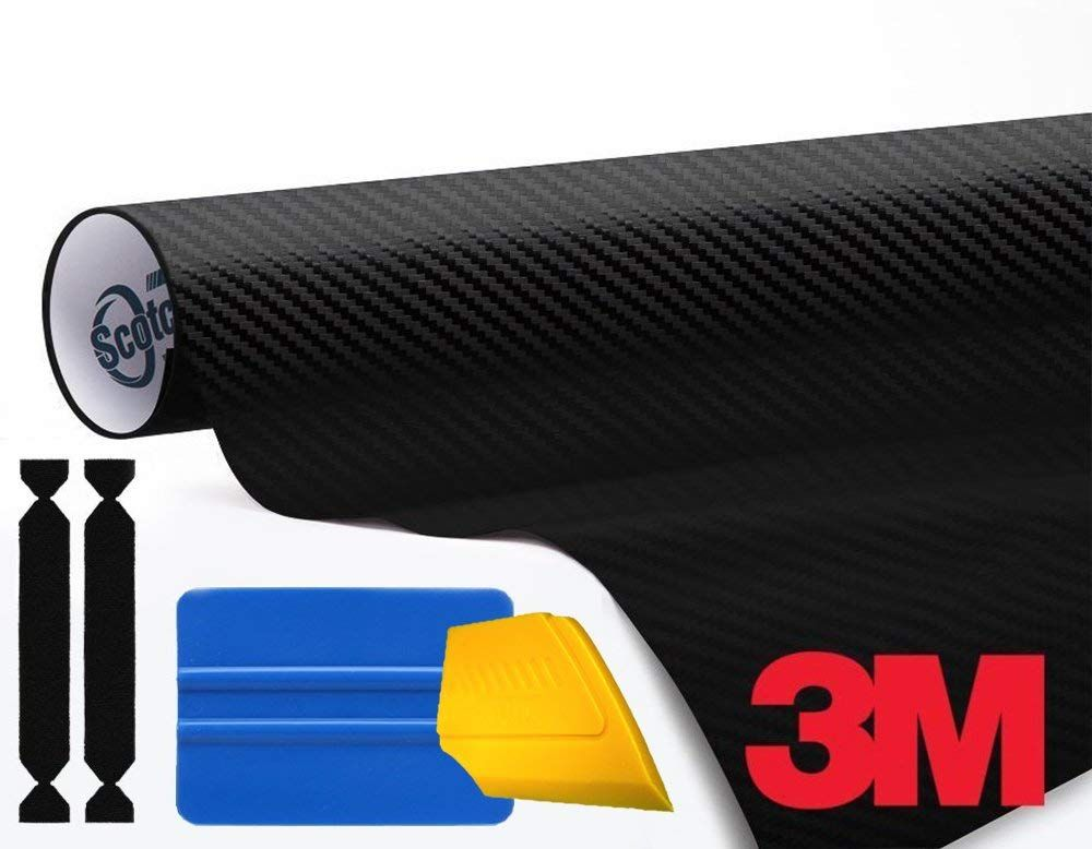3m 1080 Carbon Fibre Black Air Release Vinyl Wrap Roll Including Toolkit 3ft X 5ft To View Further For This Vinyl Wrap Exterior Accessories Carbon Fiber