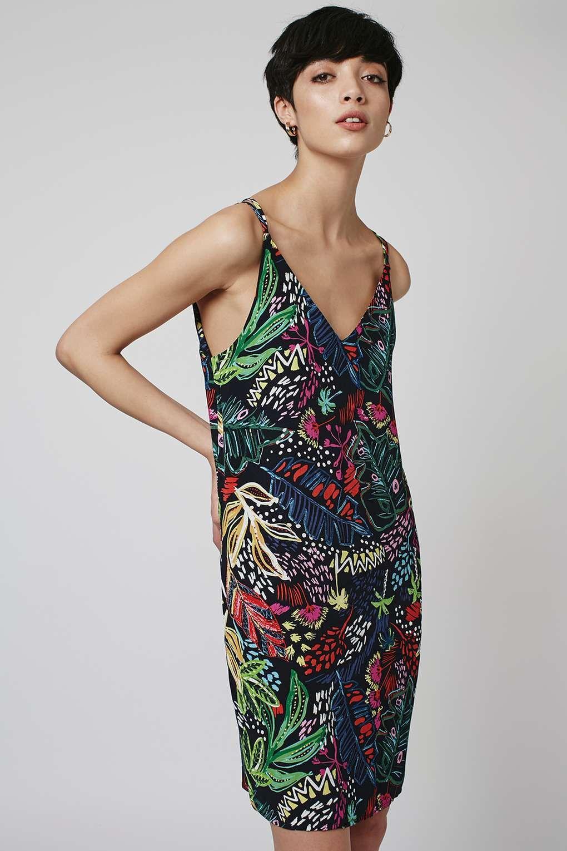 6aad0b78a71d Jungle Print Slip Dress   jungle group project   Fashion, Dresses ...