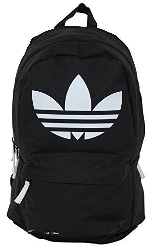 a8c3a0d71d Adidas Originals Burns Backpack Bag Gym Trefoil Logo Black White adidas  Performance http