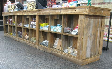 Timber Frame Retail Gallery | New Energy Works | Custome Display Made with Reclaimed Wood