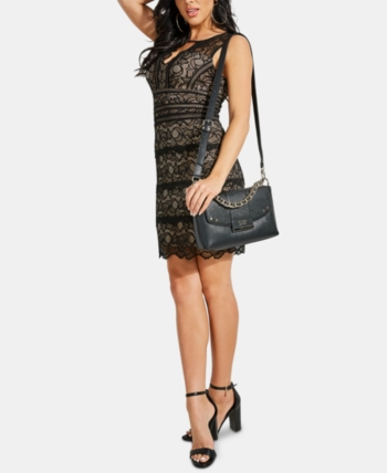 2c1d5dd8 GUESS Kason Lace Bodycon Dress in 2019   Products   Bodycon dress ...