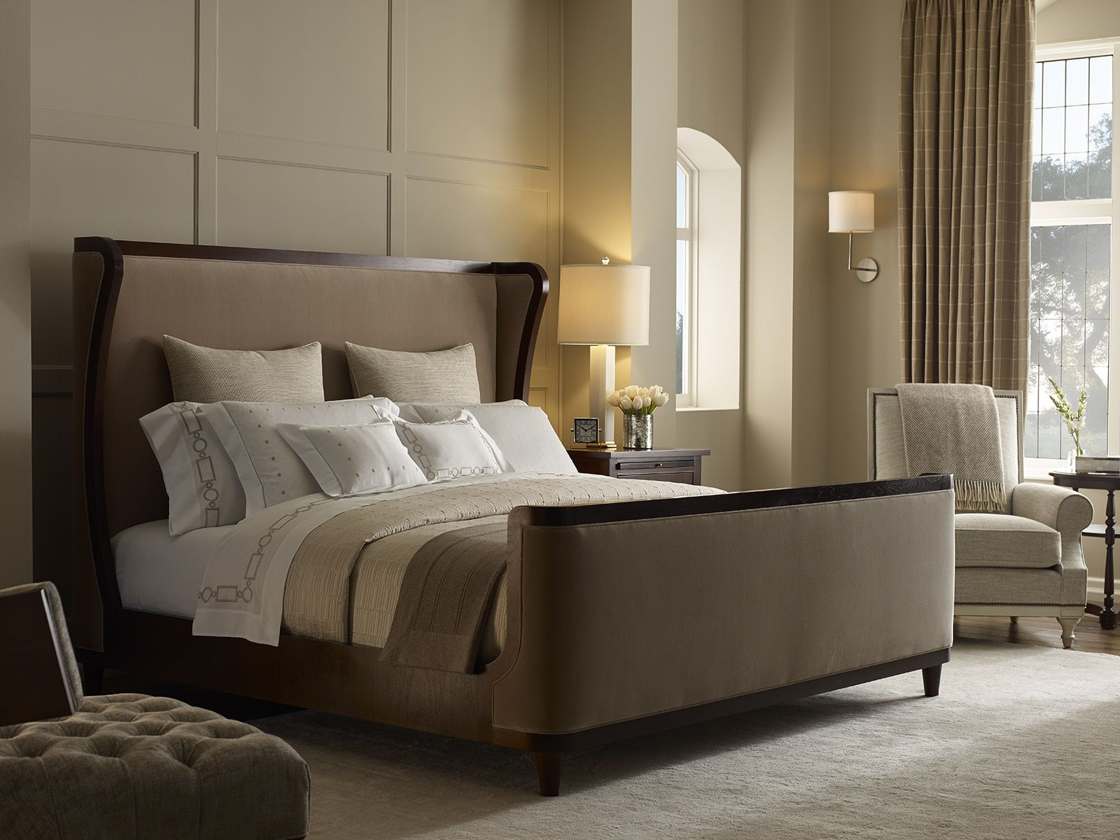 The Cliveden Upholstered Bed is calling. David Phoenix by