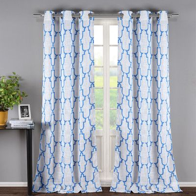 DR International Newburgh Linen Look Grommet Curtain Panel