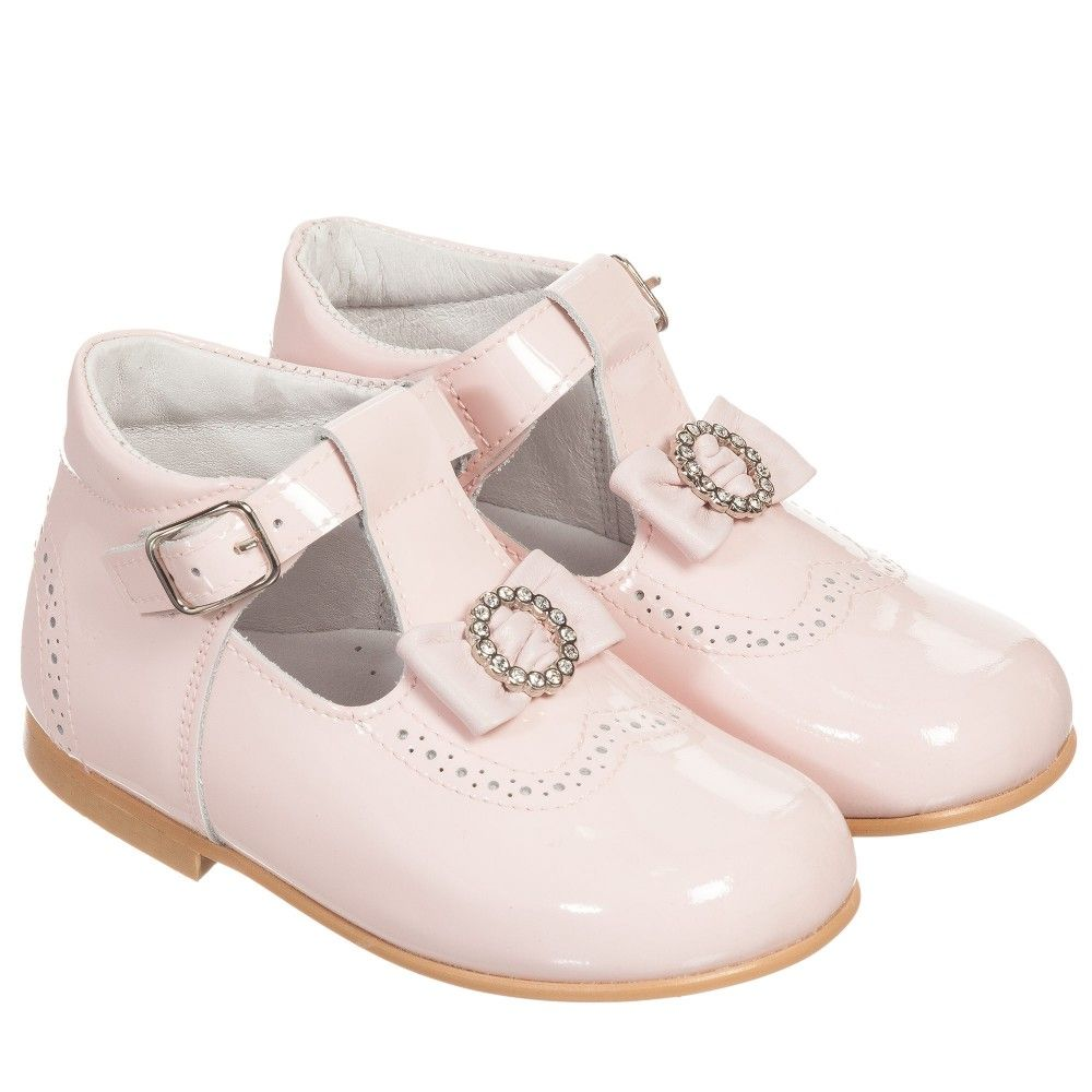 dc6946958d8839 Children s Classics - Girls Pink Patent Leather Bow Shoes