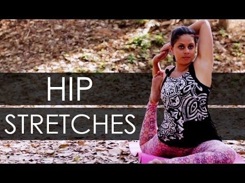 learn how to do hip stretches and hip exercises through