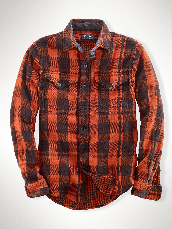 Double-Faced Plaid Workshirt - Standard Fit Casual Shirts - Ralph Lauren UK