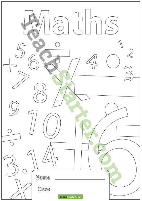 maths book cover title pages pinterest book covers