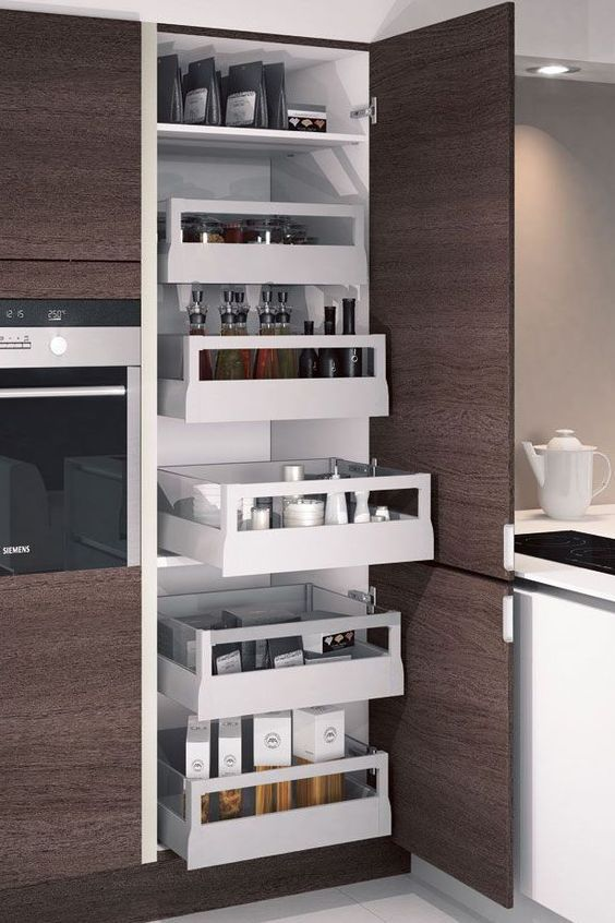 Une Cuisine Maxi Rangements Rangement Cuisine Fonctionnelle Et - Meuble rangement cuisine pour idees de deco de cuisine