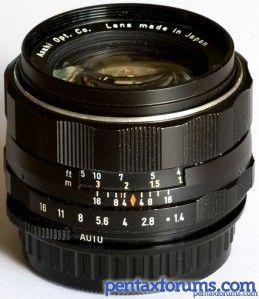 Smc S M C Super Takumar 50mm F1 4 Photo Gear Pentax Weather Seal