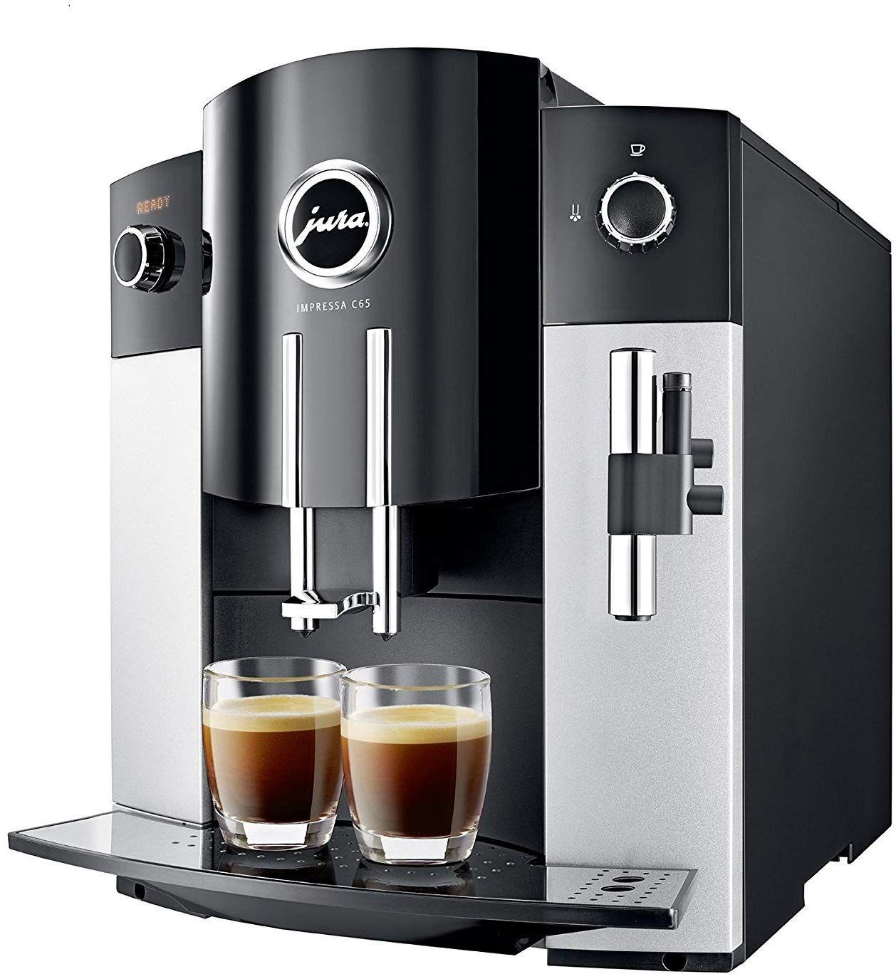 Jura 15068 Impressa C65 Automatic Coffee Machine Platinum Includes Jura Milk Container Care Cartridge Decalcifying Tablets Automatic Coffee Machine Automatic Espresso Machine Jura Coffee Machine