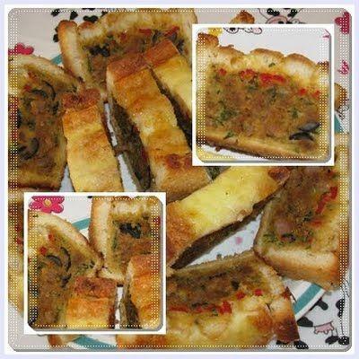farinheira forrada com pão