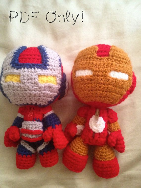 Iron Patriot Sackboy and Iron Man Sackboy PATTERN via Etsy | ironman ...