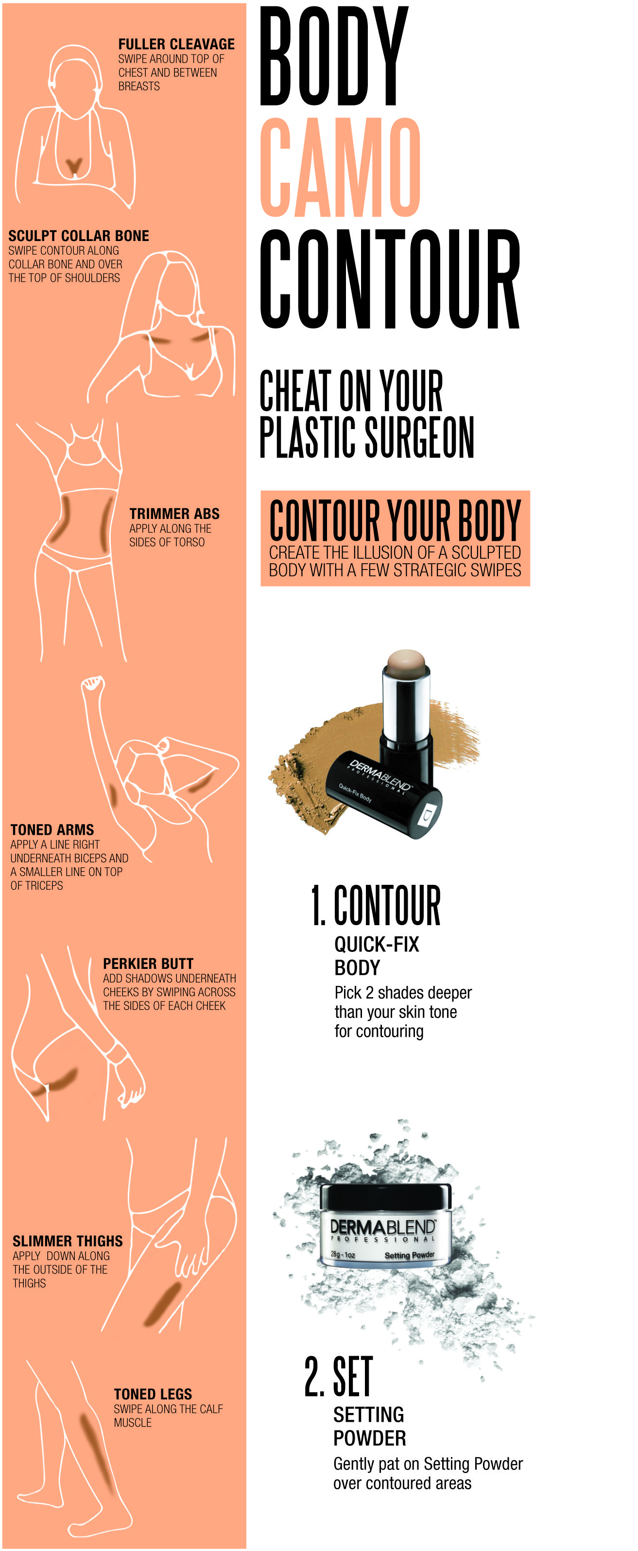Contour and sculpt the body with just a few stratetigic