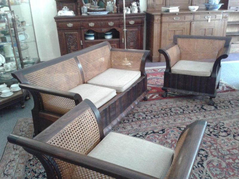 1920s Furniture For Sale Stinkwood And Rattan Lounge Suite