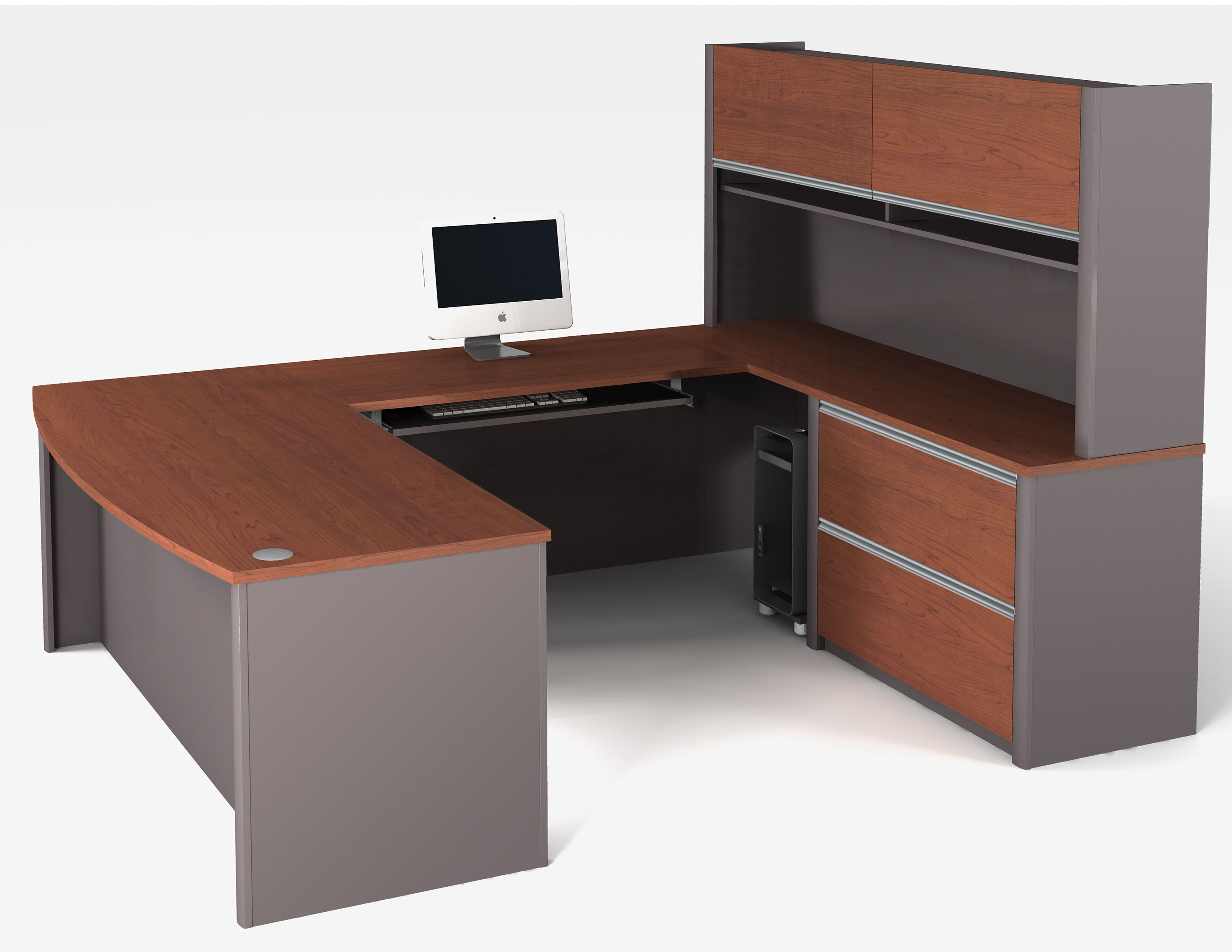 Bestar Connexion U Shaped Desk Throughout Measurements 3300 X 2550 Office Lamps Or Table Are Very Well Suited To The Task