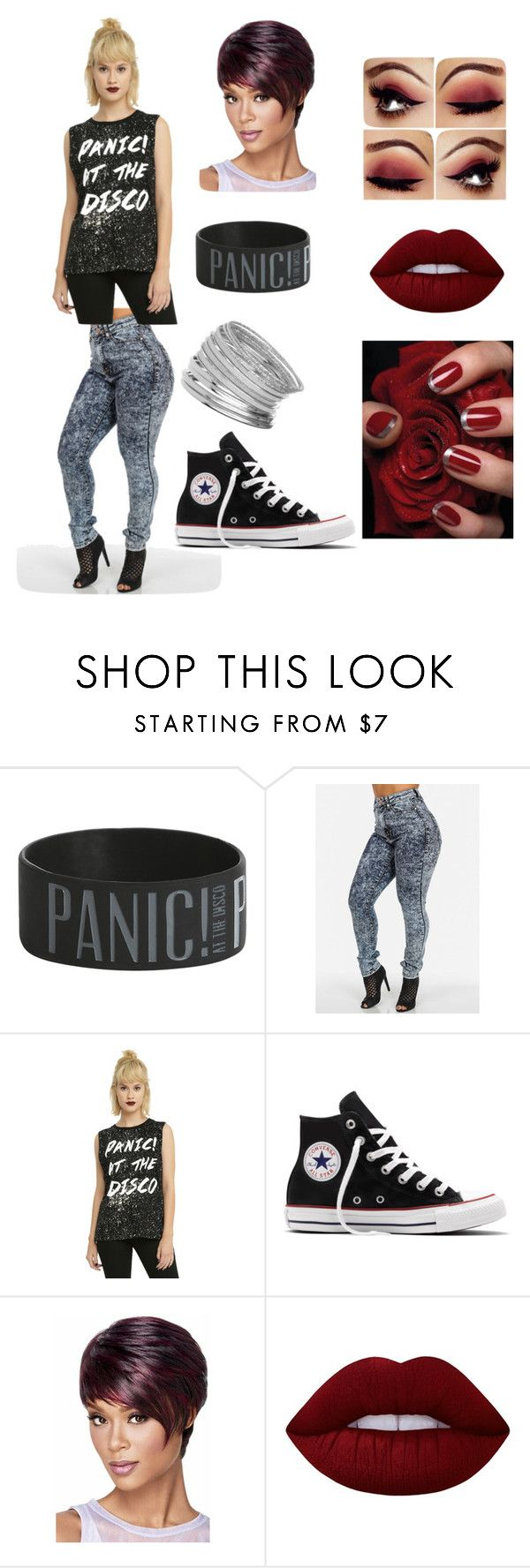 """""""Ashlee 10/25/2016"""" by littlemouse098 ❤ liked on Polyvore featuring Converse, Lime Crime and Miss Selfridge"""