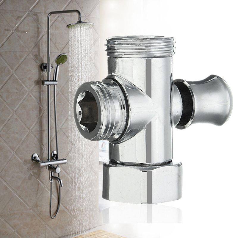 3 Way Bathroom Shower Faucet Toilet Bidet 3 4 1 2 Bsp T Adapter Shower Diverter Valve Toilet Bidet Shower Plumbing Shower Diverter Valve Bathroom Fixtures