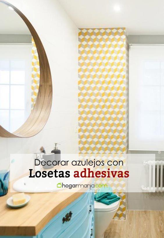 Decorar azulejos con losetas adhesivas - Decogarden ...