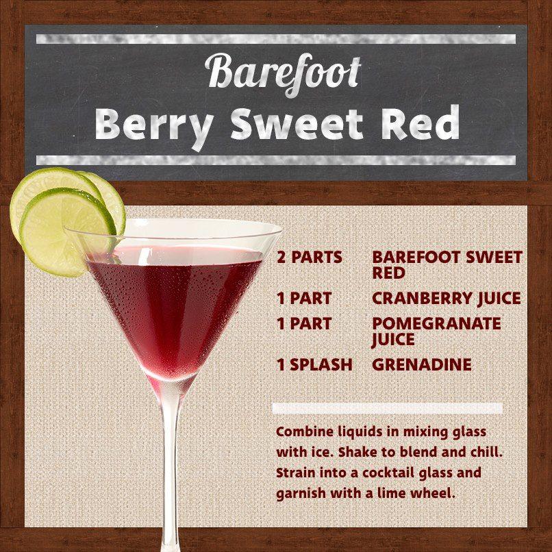 Barefoot Sweet Red Wine Cranberry Juice Pomegranate Juice Grenadine Wine Cocktails Wine Drinks Wine And Spirits Store Cranberry Juice