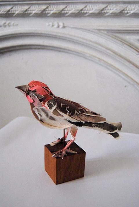 Torn Paper Sculptures -- Anna-Wili Highfield