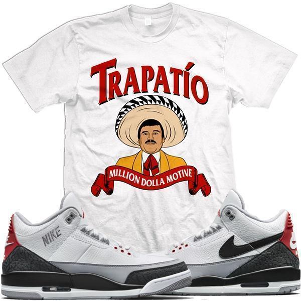 ... Jordan Retro 3 Tinker Sneaker Tees Shirt - TRAPATIO ... c1dcc6895