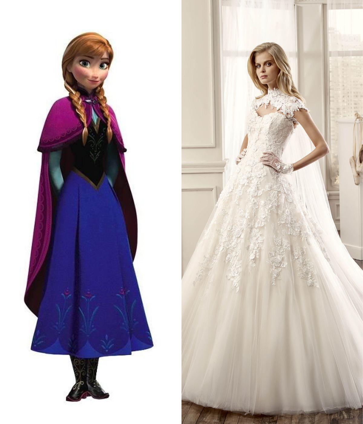 Modern wedding dresses for every disney princess anna disney