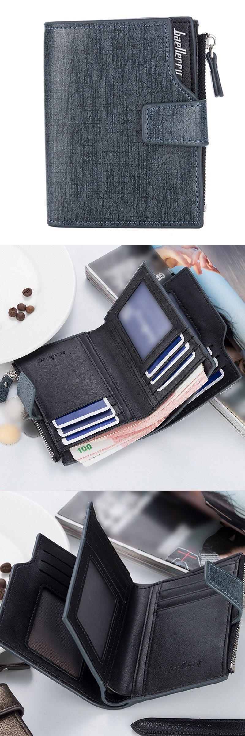 QA/_ Business Style Men/'s Fashion Long Thin Wallet Money Cash Card Storage Purs