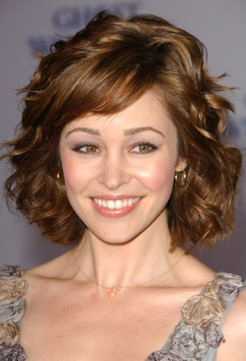 20 Hairstyles For Thick Curly Hair Girls   Wavy hair, Short wavy ...