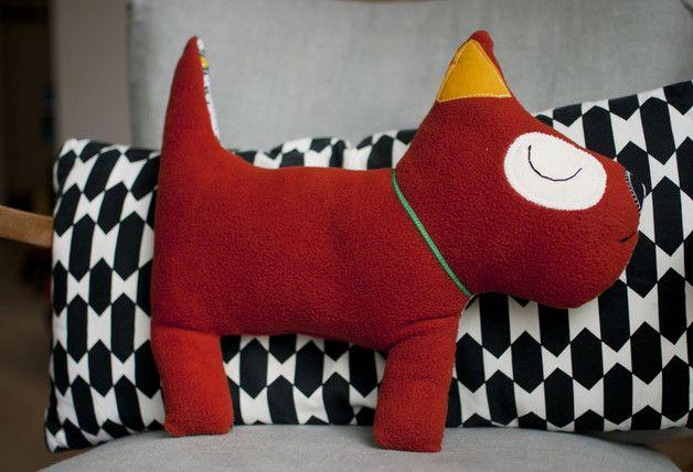 Kissen - Hundi, mein Kuschelfreund - ein Designerstück von HerrPfeffer bei DaWanda