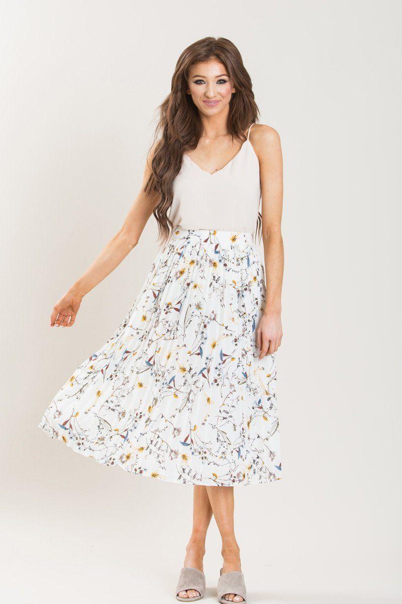 Sylvia Cami Bodysuit | Midi skirt casual, Flowy skirt