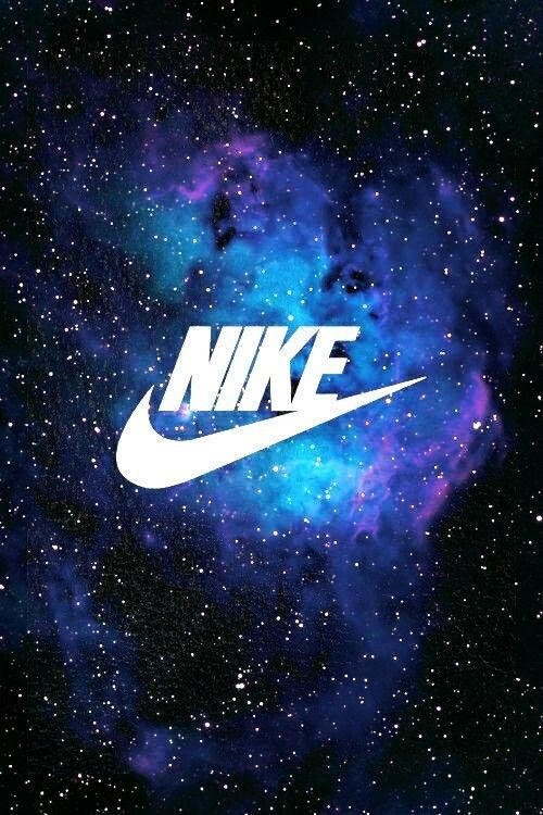 Galaxy Cool Blue Nike Wallpaper