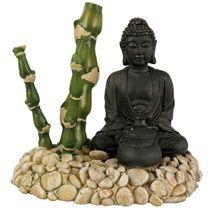 Zolux Luftausstromer Bambus Buddha Zen Dekoration Aquarium Schilf
