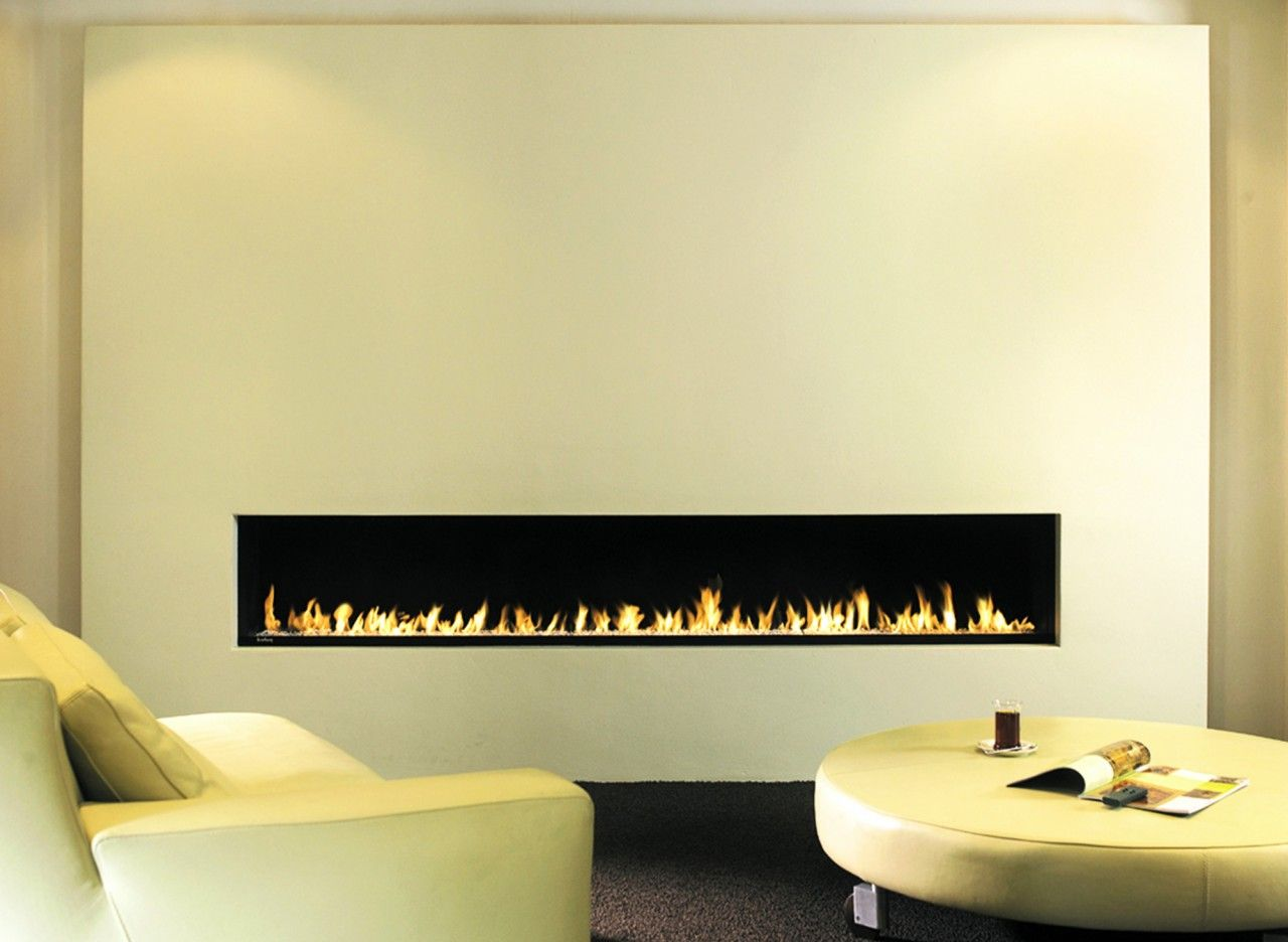 Engaging Home Interior Decoration With Long Gas Fireplace ...