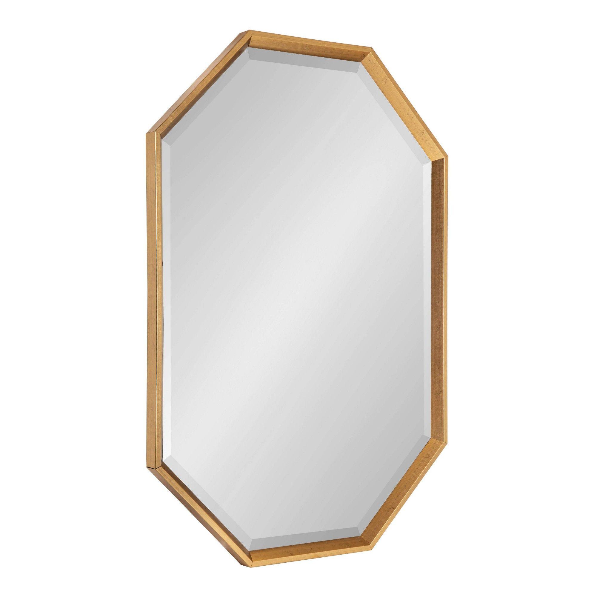 38 X 26 Calter Elongated Octagon Wall Mirror Gold Kate And Laurel Framed Mirror Wall Mirror Wall Octagon Mirror