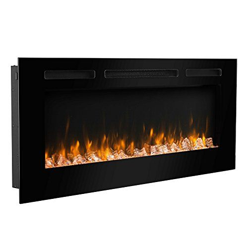 Puraflame Alice 50 Recessed Electric Fireplace Wall Mounted For