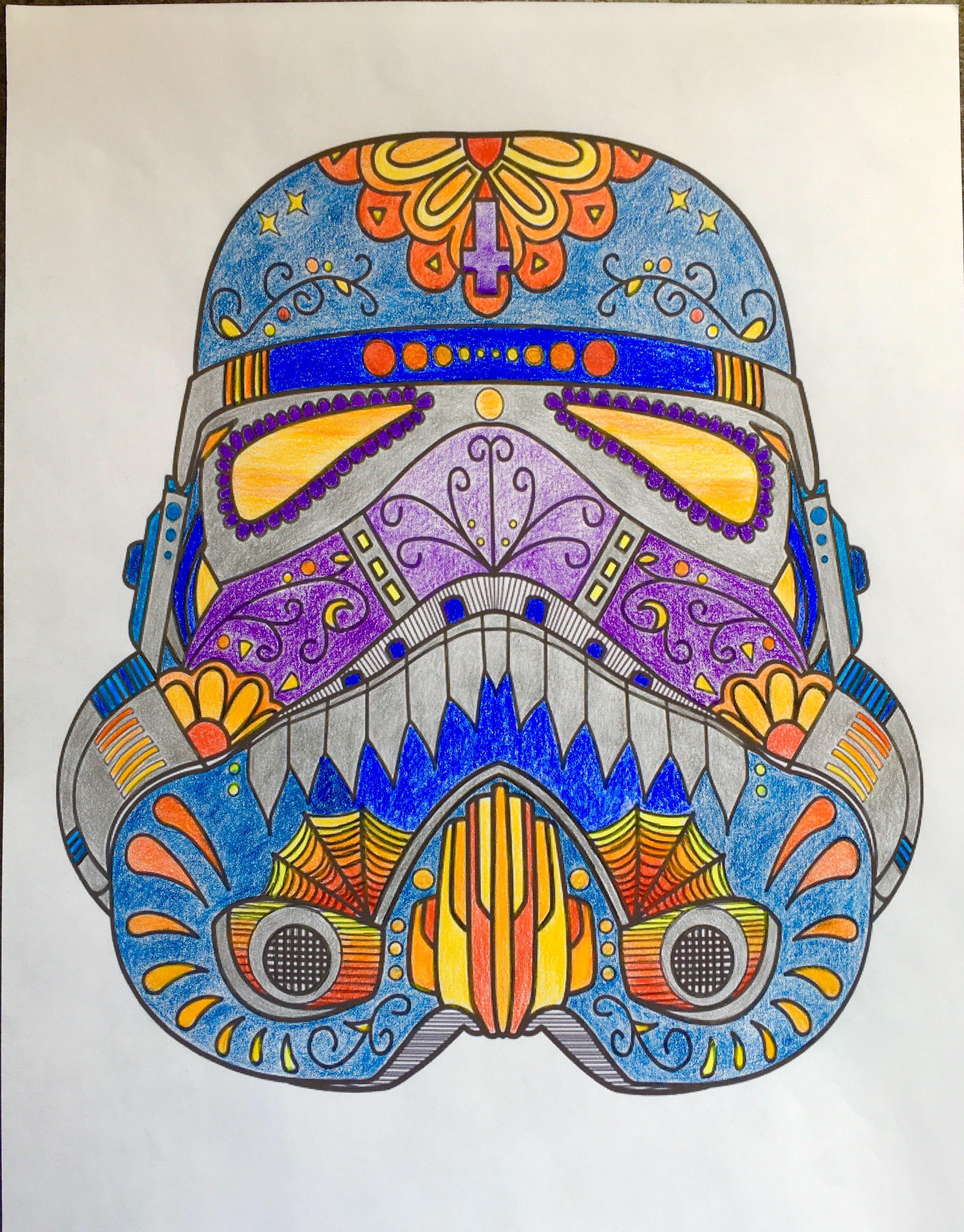 Imperial Stormtrooper Sugar Skull Inspired Helmet