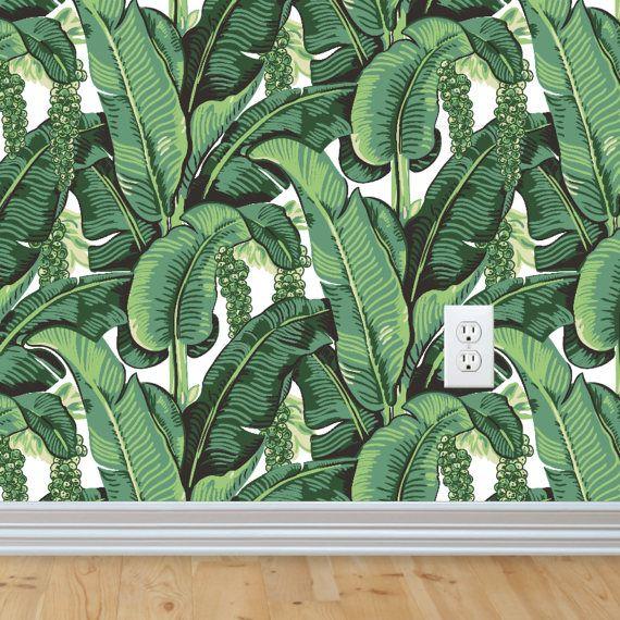 Sample Banana Leaves Selfadhesive Removable Wallpaper