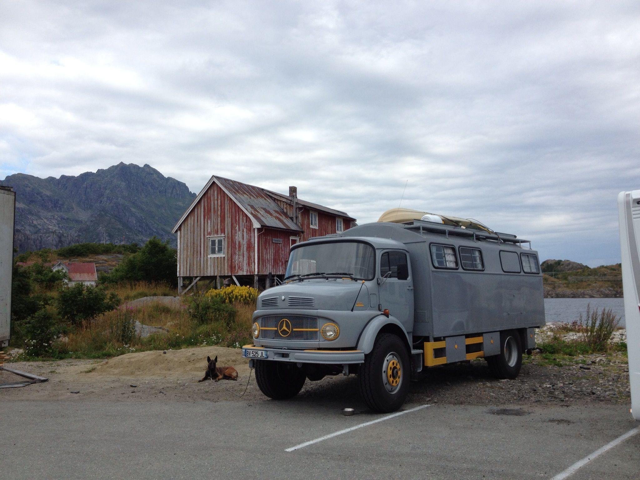 Mercedes benz truck camper in henningsv r norway wheels for Mercedes benz camper