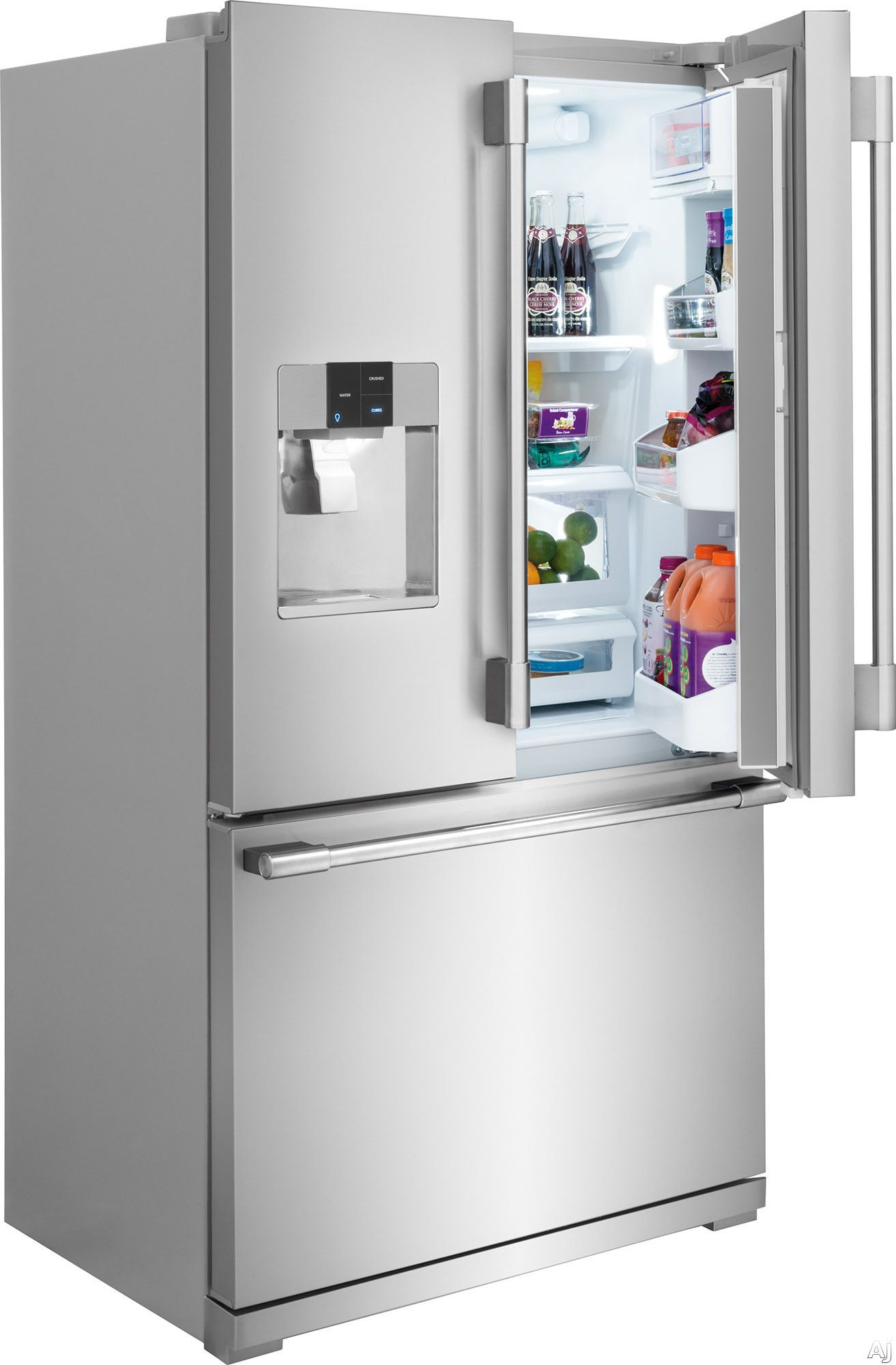 door depth store professional refrigerator ft french counter frigidaire cu