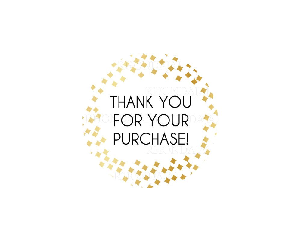 picture about Free Printable Thank You for Your Purchase identify Thank Yourself Stickers - Printable Sticker - Thank Oneself For Your